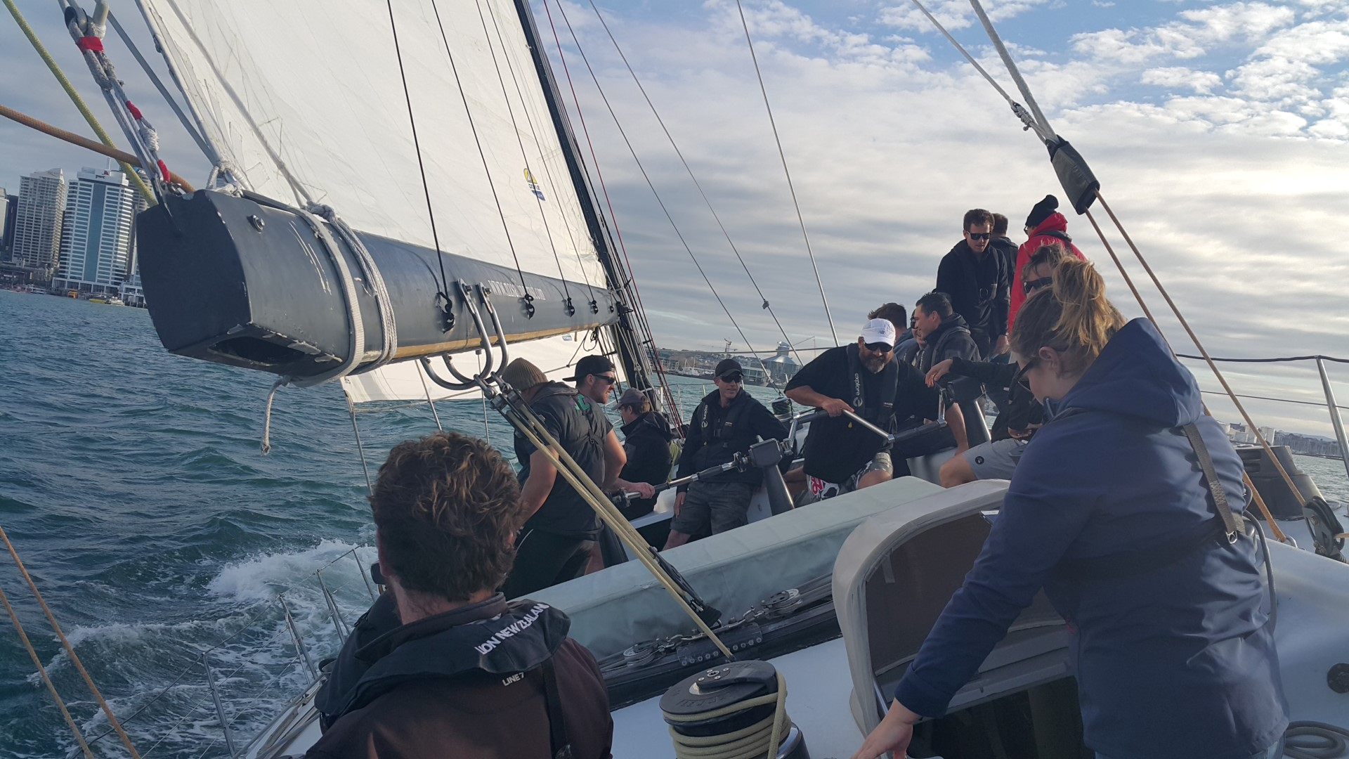 JFC staff on Americas's Cup boat