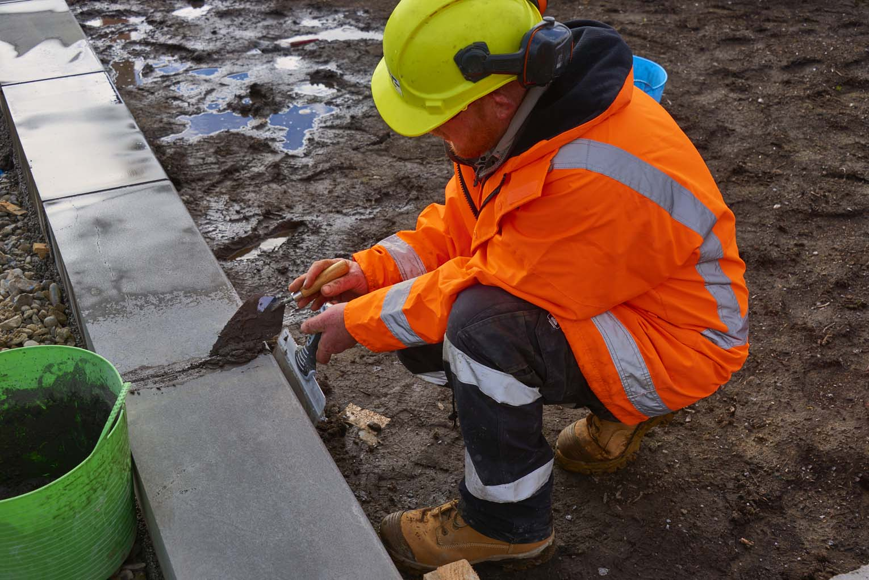 JFC staff creating pavement